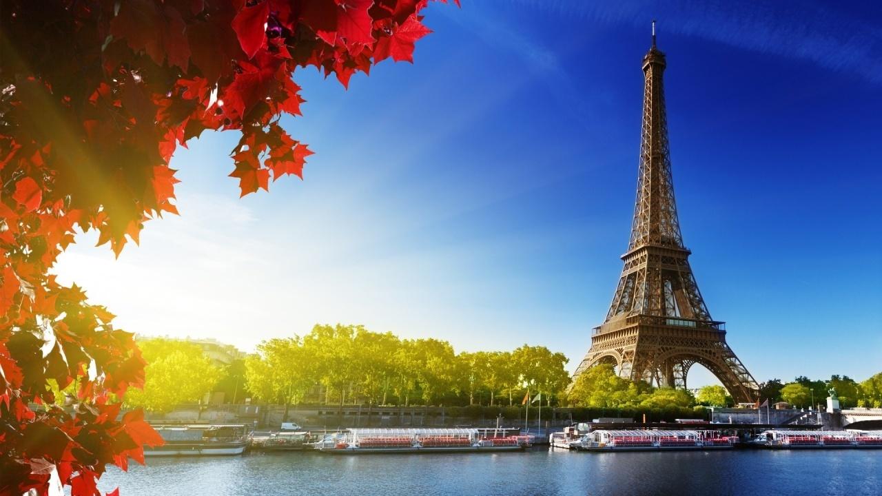 City Paris France Eiffel Tower and the Senne