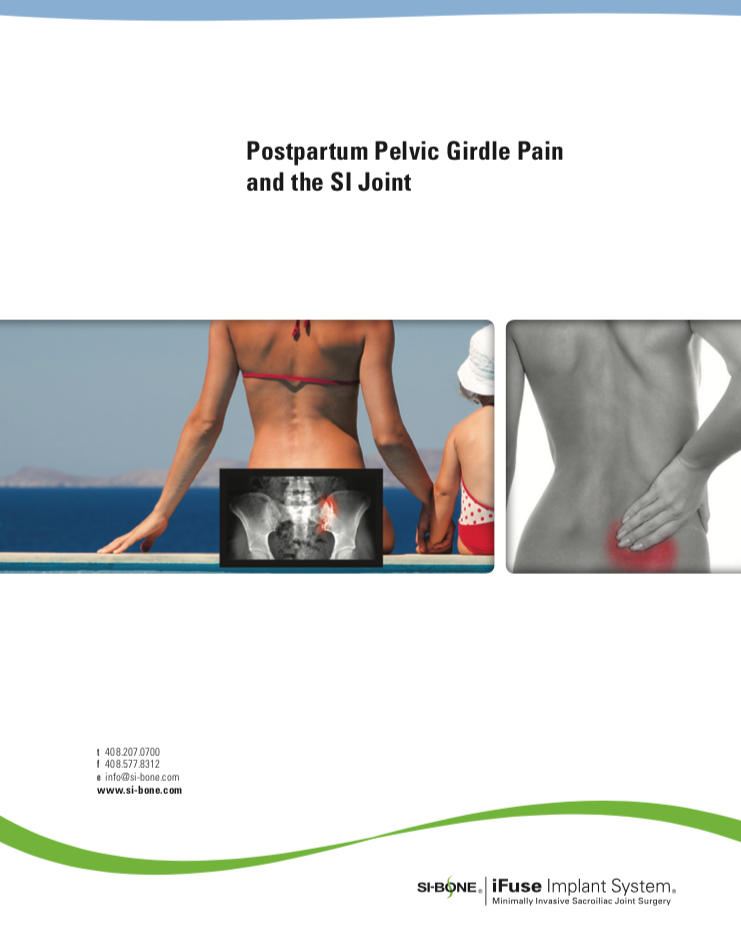 Postpartum Pelvic Girdle Pain and the SI Joint